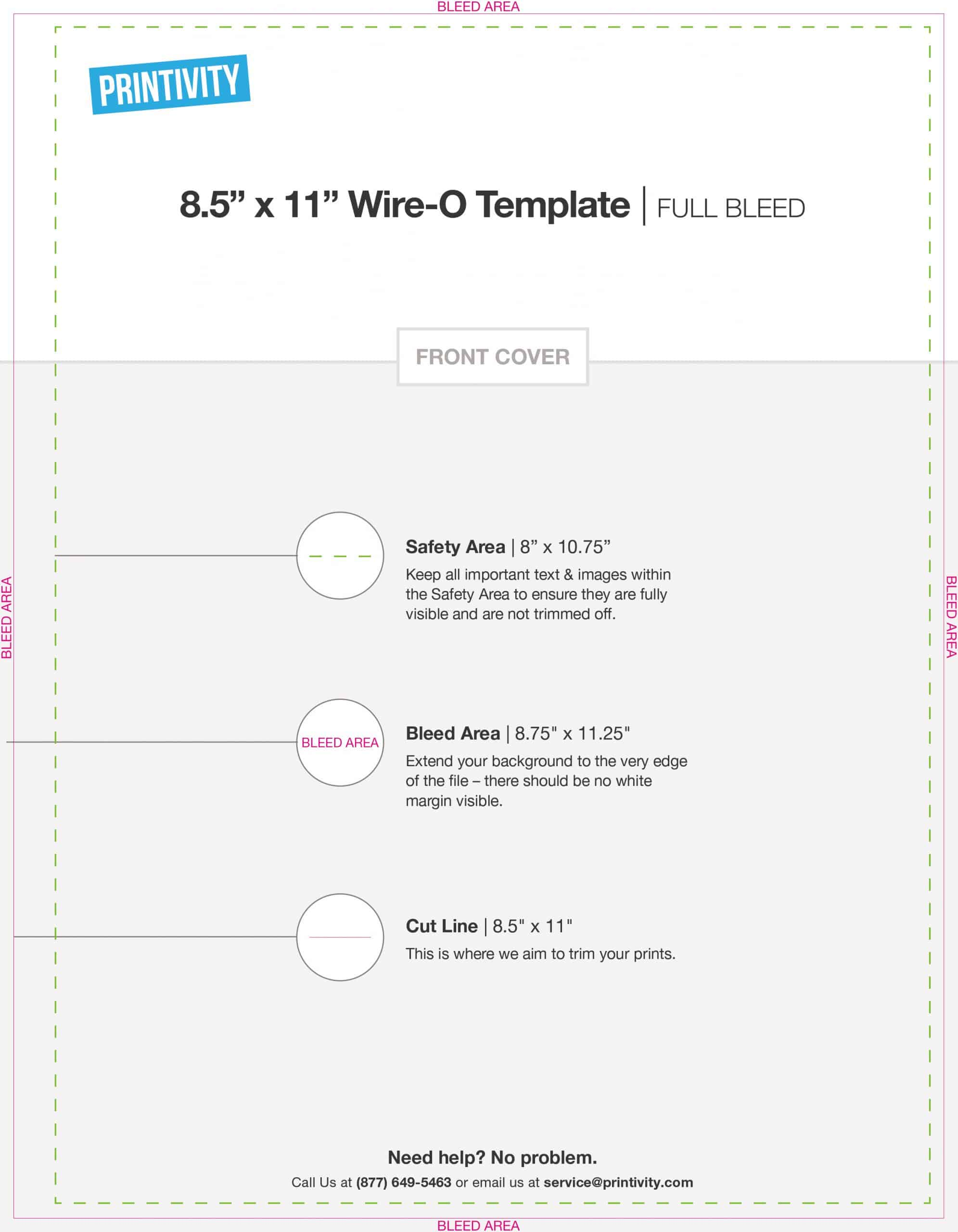 Wire O Booklet Templates Printivity Insights